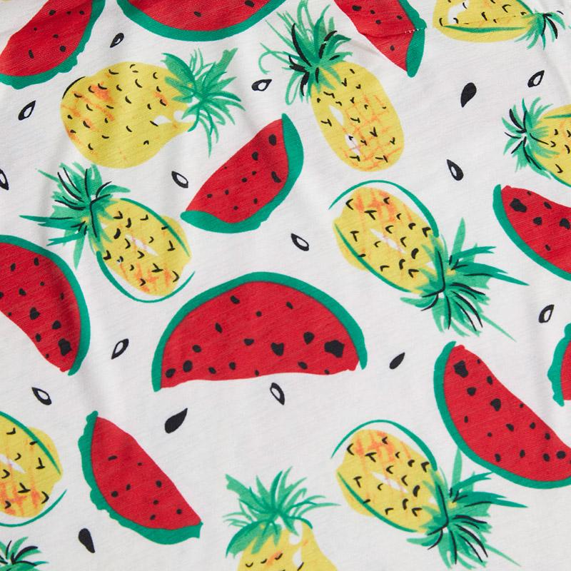Lovely Bohemian Fruit Print White Camisole