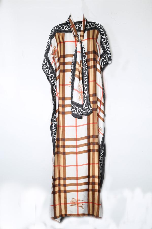 Lovely Trendy Leopard Print Maxi Plus Size Dress