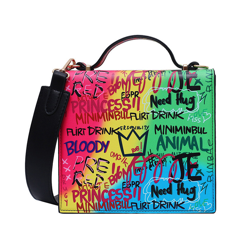Lovely Casual Letter Print Multicolor Messenger Bag
