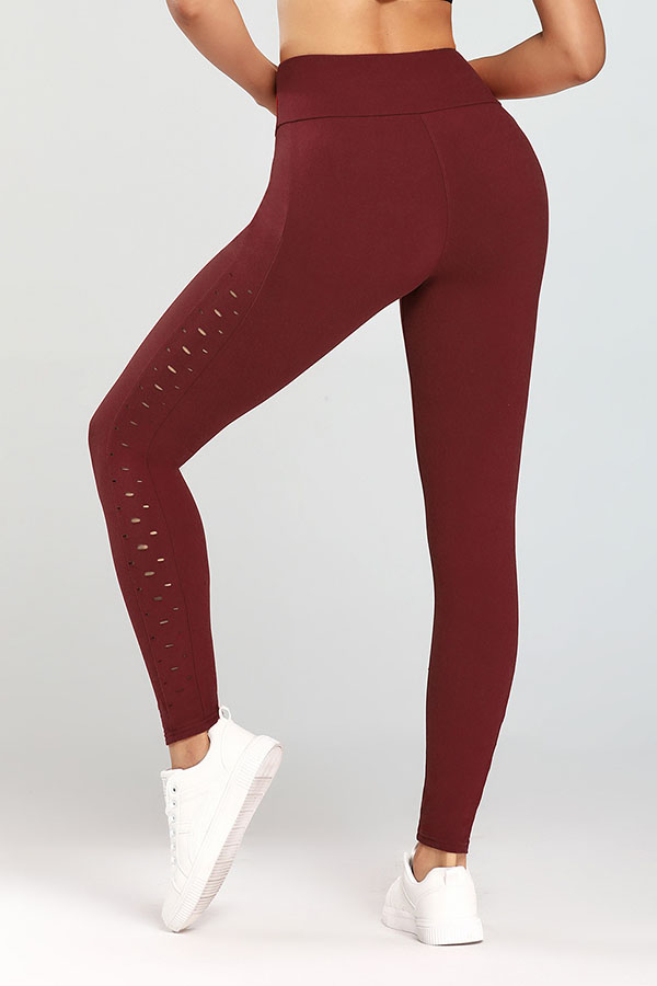 Lovely Casual Basic Purplish Red Leggings