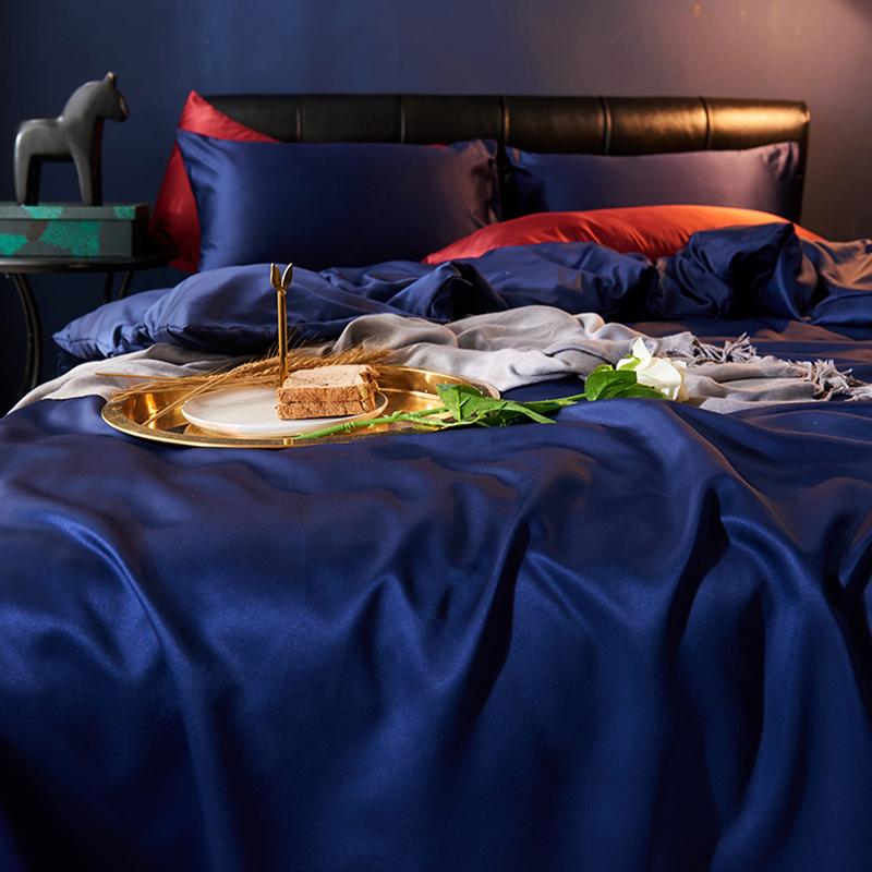 Lovely Leisure Basic Deep Blue Bedding Set