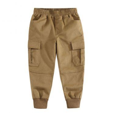Lovely Casual Patchwork Khaki Boys Pants