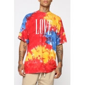 Lovely Leisure Print Red T-shirt