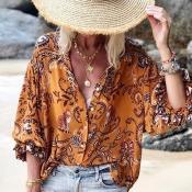 Lovely Trendy Print Croci Blouse