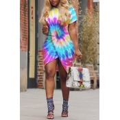 Lovely Casual Print Multicolor Mini Dress
