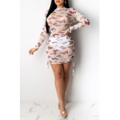 Lovely Chic See-through White Mini Dress