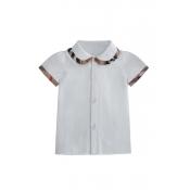 Lovely Sweet Buttons Design White Girl T-shirt