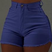 Lovely Leisure Basic Blue Shorts