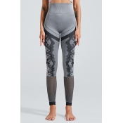 Lovely Sportswear Patchwork Grey Leggings
