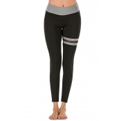 Lovely Casual Patchwork Grey Leggings