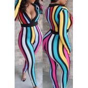 Lovely Stylish Striped Multicolor One-piece Jumpsu