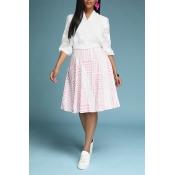 Lovely Trendy Print White Two-piece Skirt Set