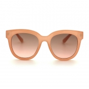 Lovely Chic Big Frame Design Apricot Sunglasses