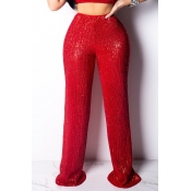 Lovely Stylish Basic Red Pants