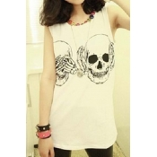 Lovely Casual Print White Plus Size Camisole
