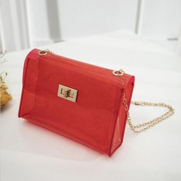 Lovely Trendy See-through Red Messenger Bag