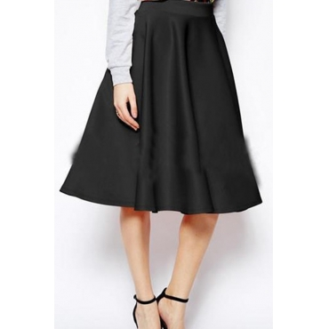 Lovely Casual  Loose Black Skirt