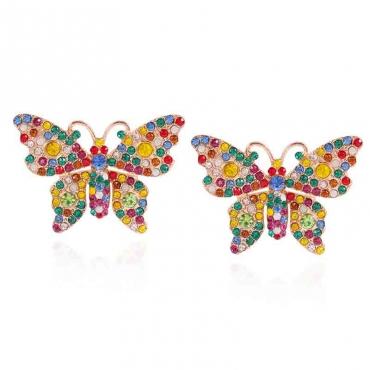 Lovely Trendy Butterfly Multicolor Earring