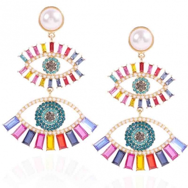 Lovely Trendy Hollow-out Multicolor Earring