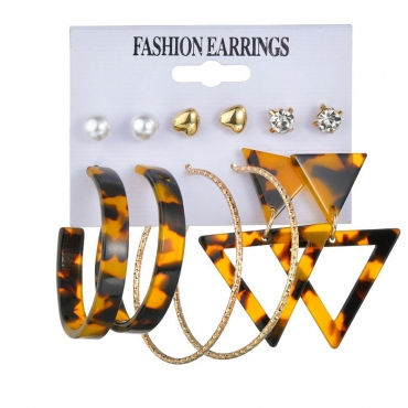 Lovely Stylish Hollow-out Brown Earring