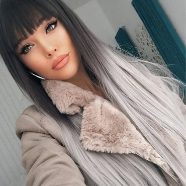 Lovely Chic Long Black Wigs