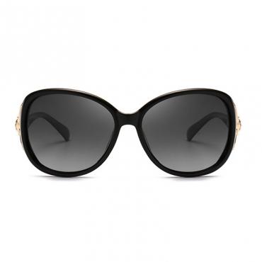 Lovely Trendy Gradient Lens Black Sunglasses
