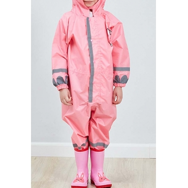 Lovely Dustproof Clothing Environmental Protection Lightweight Pink Raincoat EVA Thickened