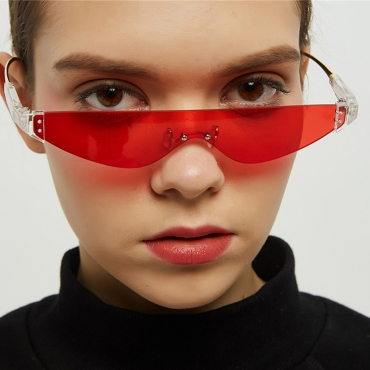 Lovely Chic Red One Piece Sunglasses