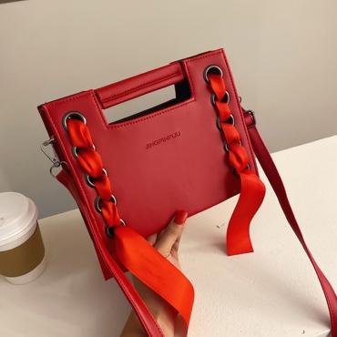 Lovely Chic Red Crossbody Bag