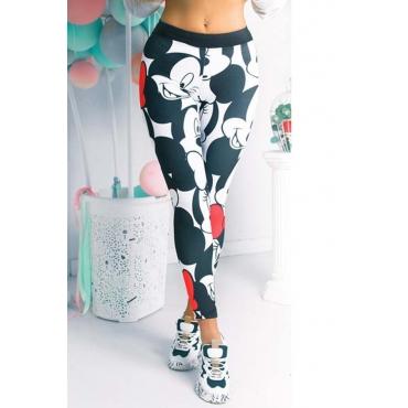 Lovely Sportswear Cartoon Print Multicolor Pants
