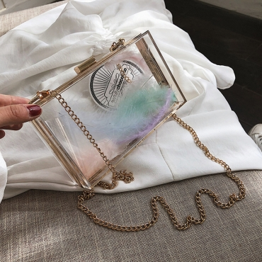 Lovely Chic See-through Multicolor Messenger Bag