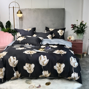 Lovely Cosy Print Brown Bedding Set