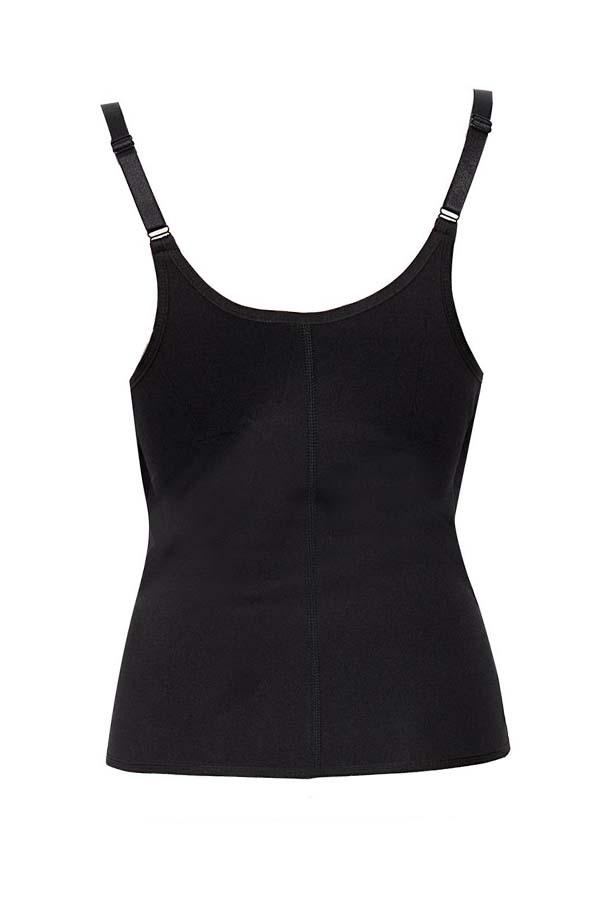 Lovely Sportswear Zipper Design Black Bustiers