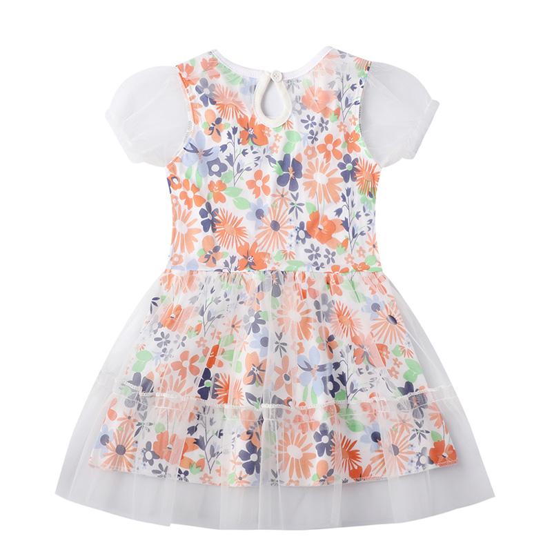 Lovely Sweet See-through YellowGirl Knee Length Dress