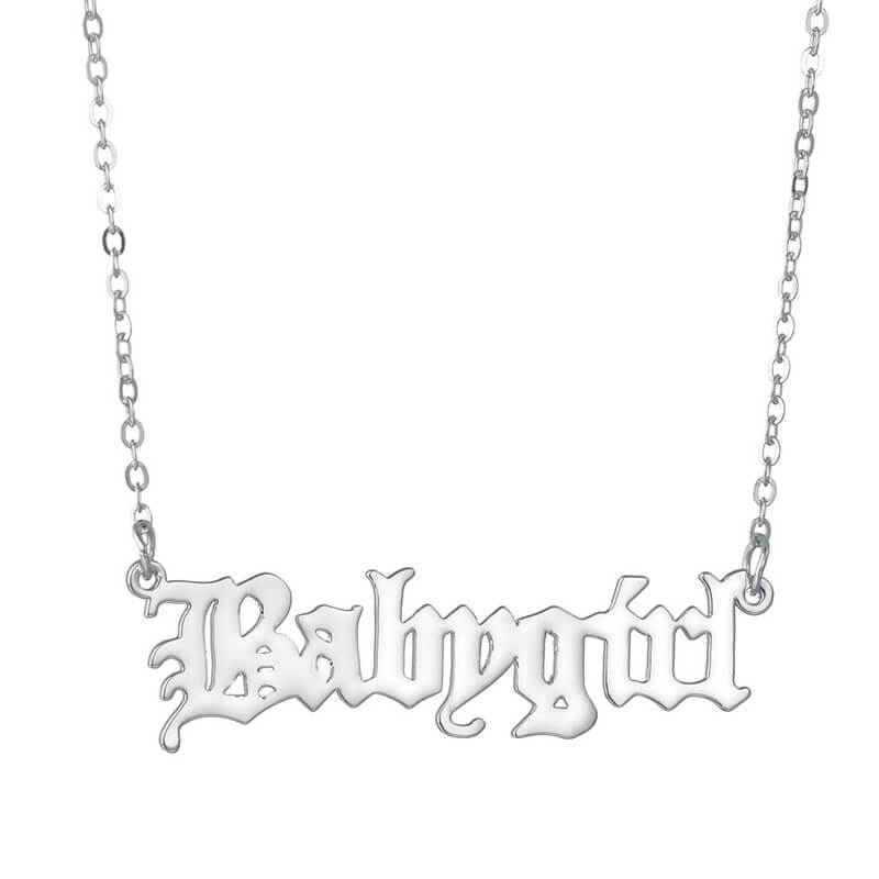 Lovely Chic Letter Silver Necklace