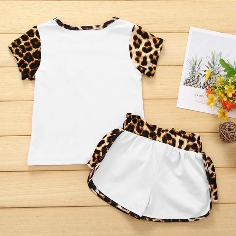 Lovely Stylish Patchwork White Girl Two-piece Shorts Set