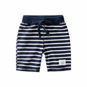 Lovely Trendy Striped Print Blue Boy Shorts