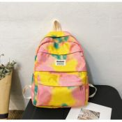 Lovely Casual Print Yellow Backpacks