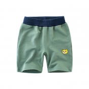 Lovely Trendy Patchwork Green Boy Shorts