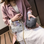 Lovely Sweet See-through Black Crossbody Bag