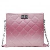 Lovely Retro Chain Strap Pink Messenger Bag