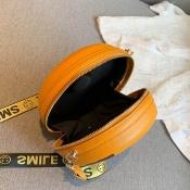 Lovely Trendy Zipper Design Yellow Crossbody Bag