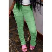 Lovely Casual Basic Skinny Green Pants