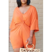 Lovely Leisure Fold Design Croci Plus Size Two-pie