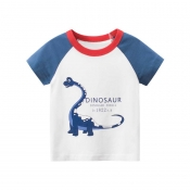 Lovely Trendy Patchwork Blue Boy T-shirt