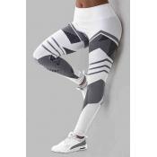 Lovely Sportswear Print White Plus Size Pants