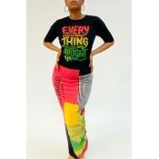 Lovely Leisure Print Multicolor Ankle Length Dress