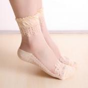 Lovely Sweet Patchwork Skin Color Socks