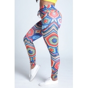 Lovely Sportswear Print Blue Leggings
