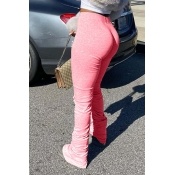 Lovely Stylish Basic Skinny Pink Pants